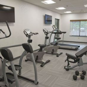 Exercise room with Cardio Machines and Free Weights