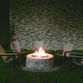 Outdoor Firepit with lawn chairs