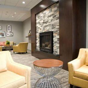 Front Lobby Fireplace at Hammondsport Hotel