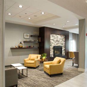 Hotel Lobby with Fireplace at Hammondsport Hotel