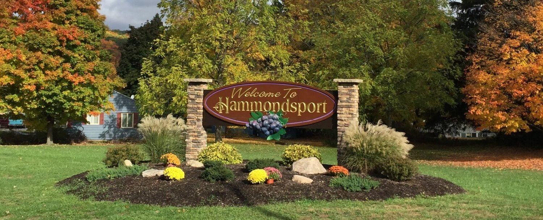 Hammondsport, NY Welcome Sign